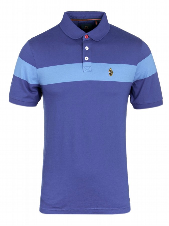 STARTING OVER blue polo shirt