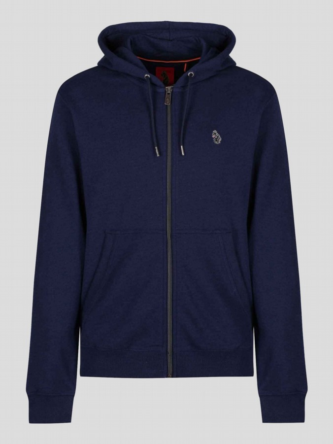 luke 1977 mens designer clothing marle indigo zip up hoodie sweatshirt tracksuit
