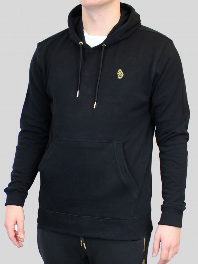 luke 1977 mens designer clothing black zip up hoodie