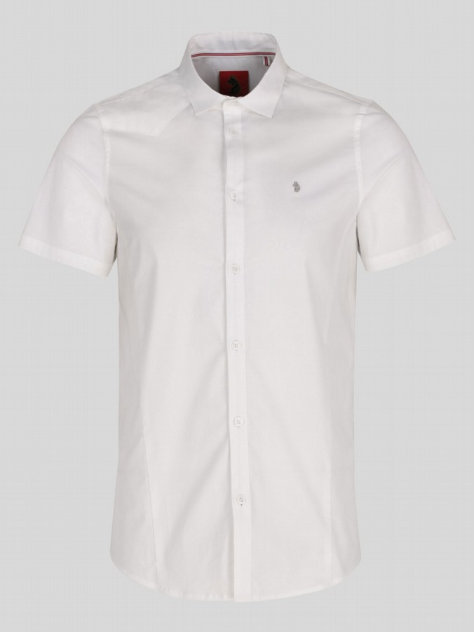 luke 1977 mens designer short sleeve white shirt