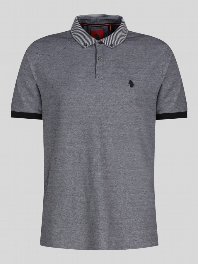 luke 1977 mens designer silver grey polo shirt