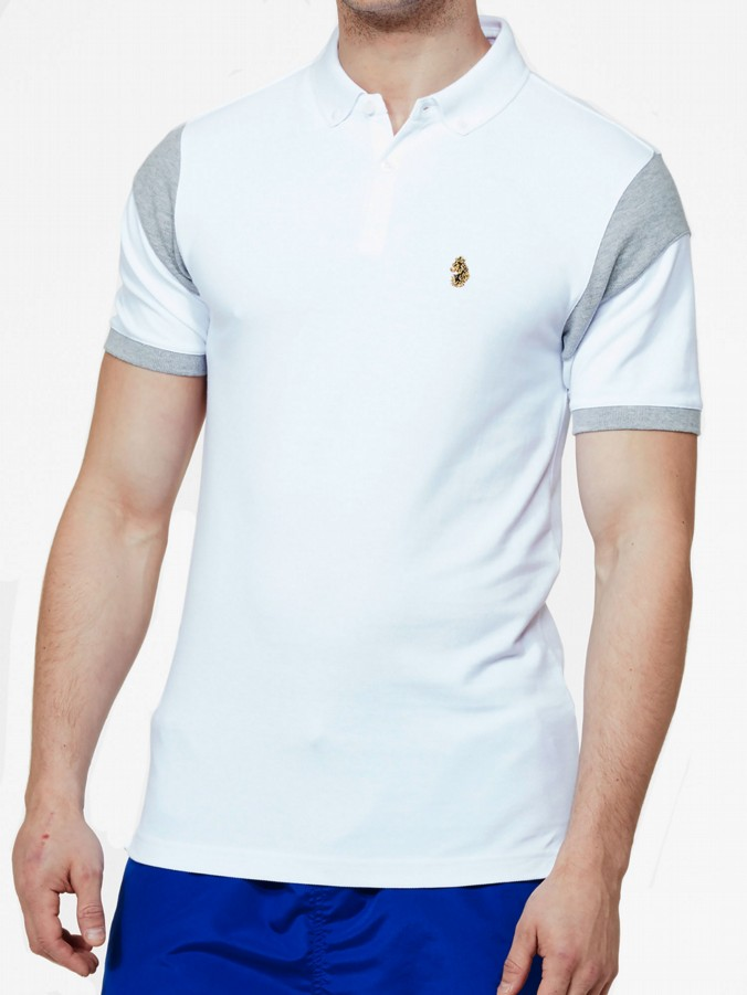 luke 1977 sport mens designe white polo shirt