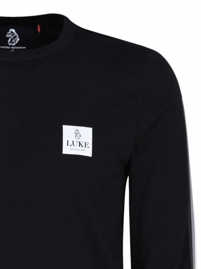 luke 1977 mens designer black long sleeve tshirt