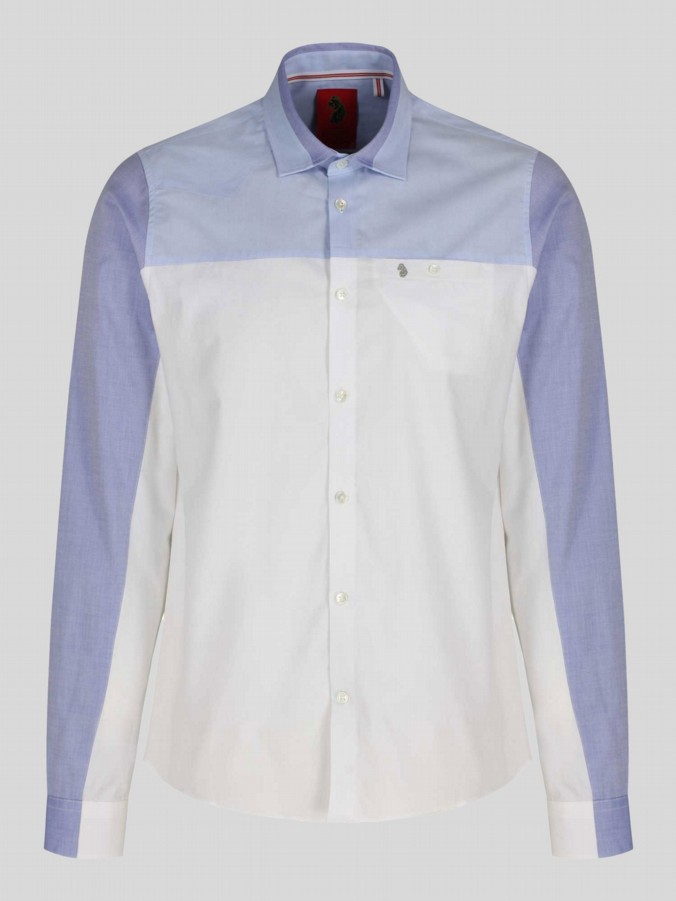 luke 1977 mens designer blue mix shirt