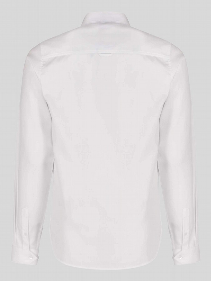 luke 1977 mens designer long sleeve white shirt