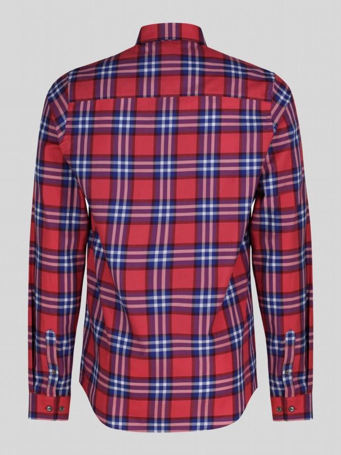 luke 1977 mens designer red checked shirt
