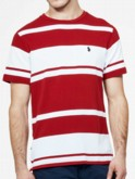 luke 1977 mens designer striped red tshirt