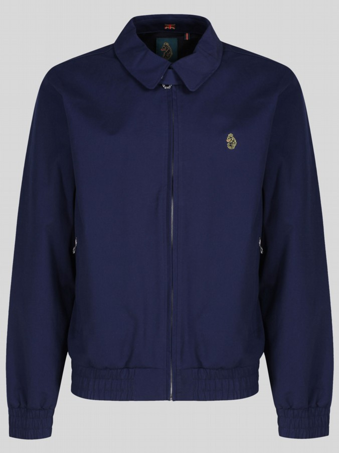 luke 1977 sport mens designer lux navy harrington jacket