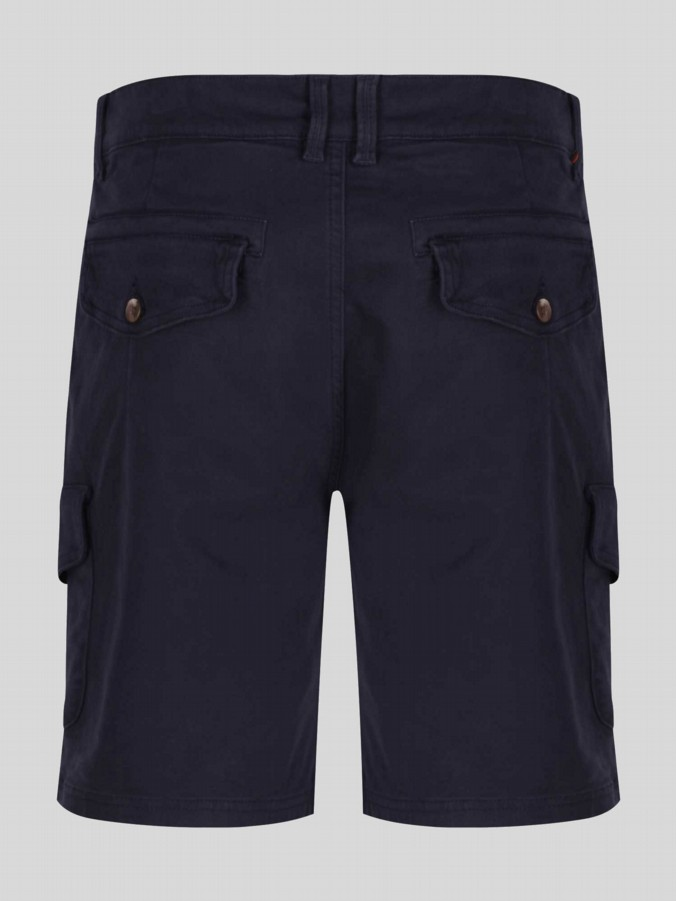 luke 1977 mens designer navy tailored shorts