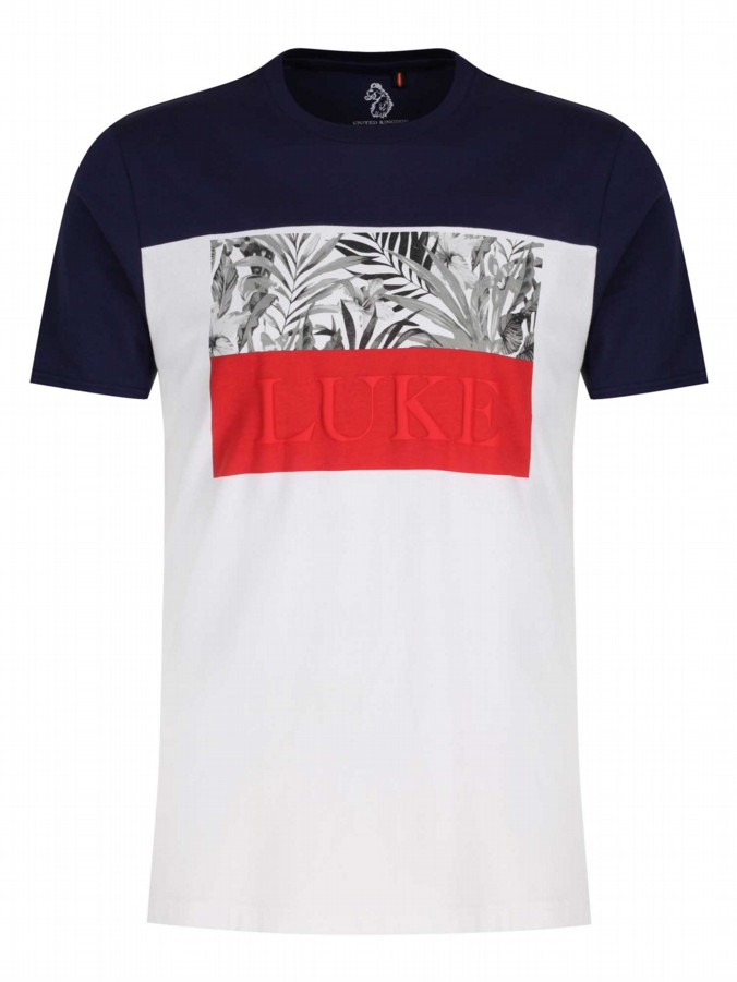 luke 1977 mens designer pop block colourful print tshirt