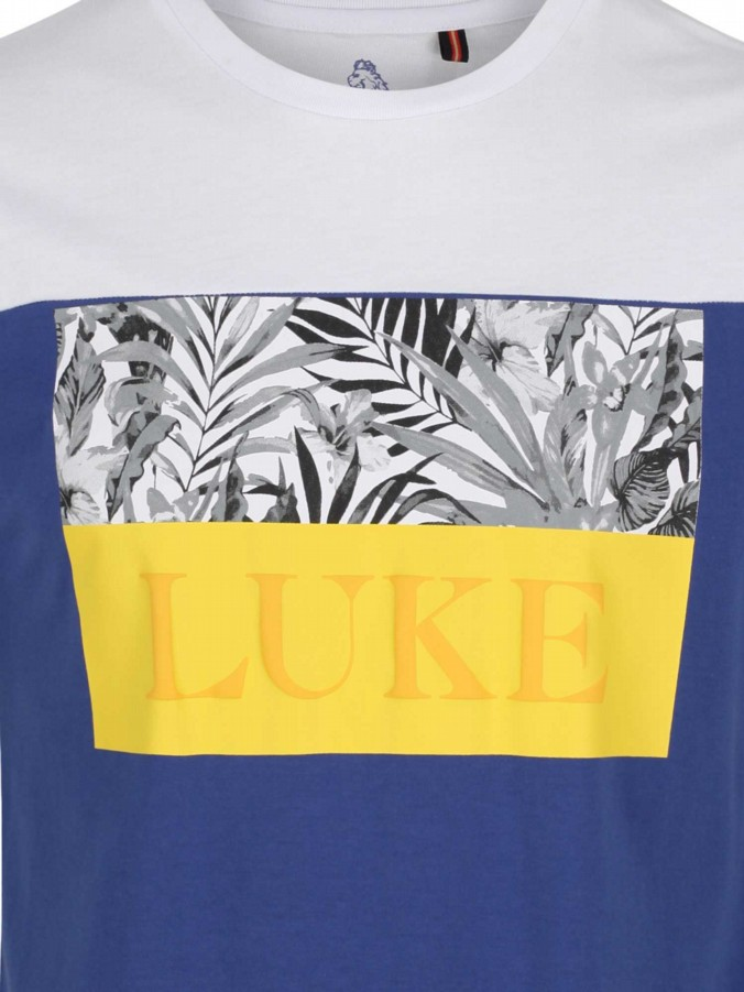 luke 1977 mens designer pop block colourful printed tshirt