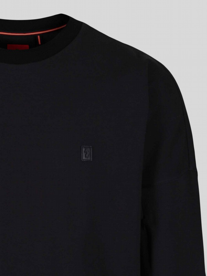luke 1977 mens designer black sweater