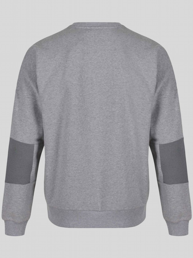 luke 1977 mens designer grey drop shoulder sweatshirt