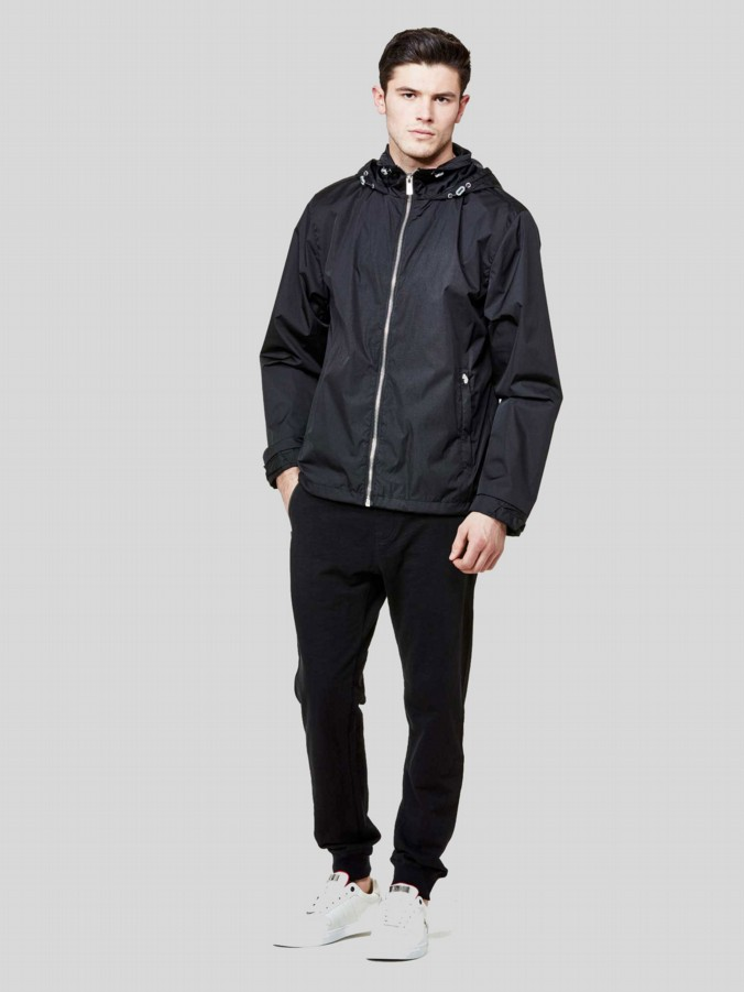 luke 1977 mens designer black rain jacket
