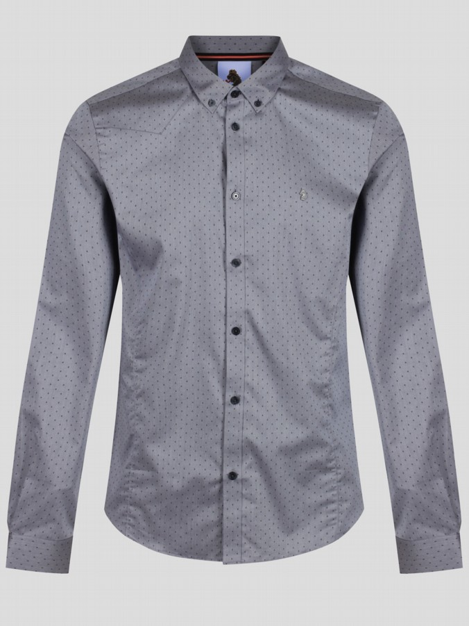 luke 1977 mens designer long sleeve pattern shirt