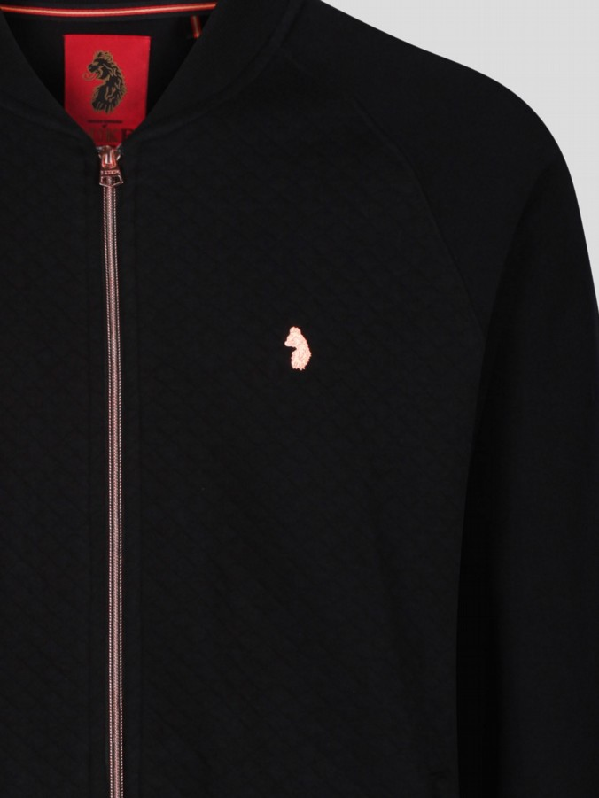 luke 1977 mens designer quilted sweat rose gold zip