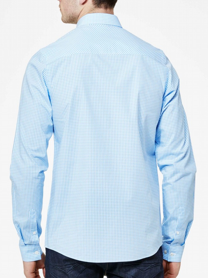 luke 1977 mens designer sky gingham shirt