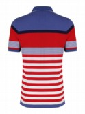 luke sport mens designer striped polo shirt