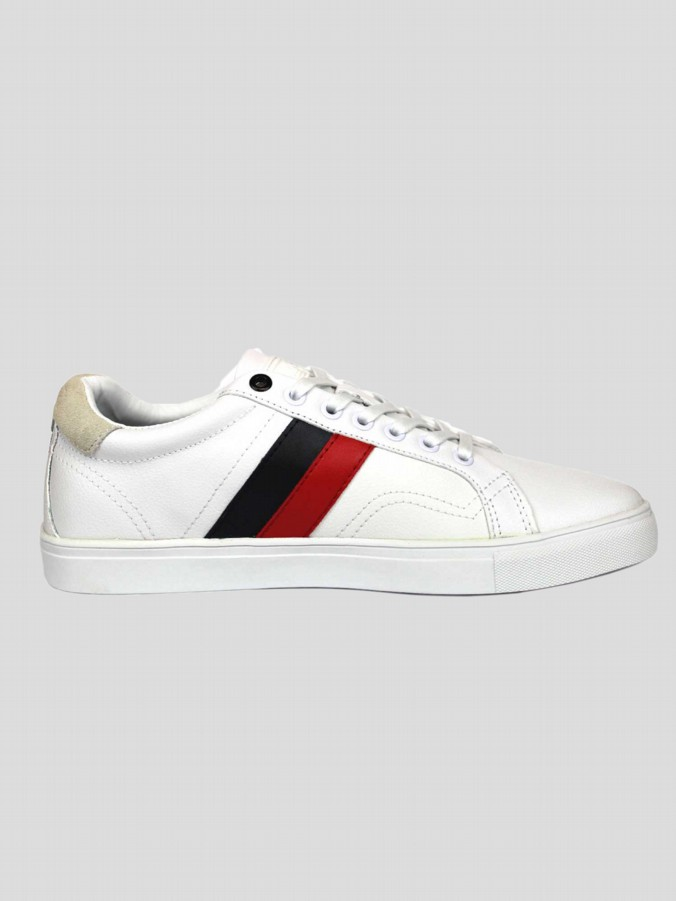 luke 1977 mens designer white lace up trainers