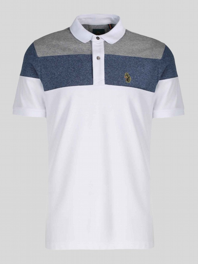 luke 1977 mens designer mickey spacers white polo shirt