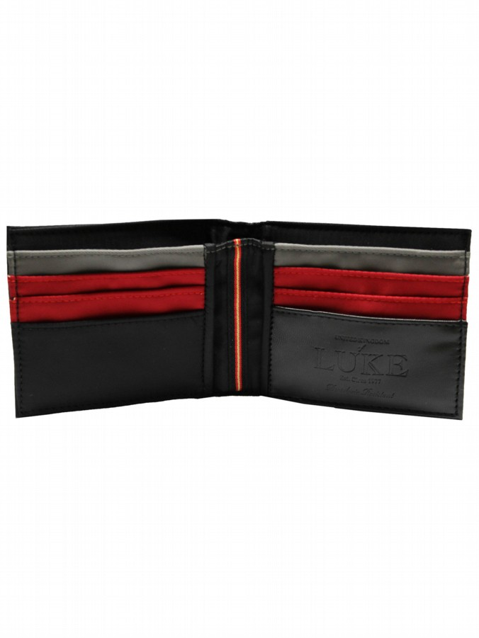 luke 1977 mens designer canvas black colour block wallet