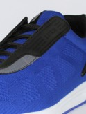luke 1977 mens designer blue knitted trainers