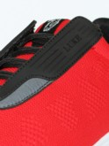 luke 1977 mens designer red mesh knit trainers