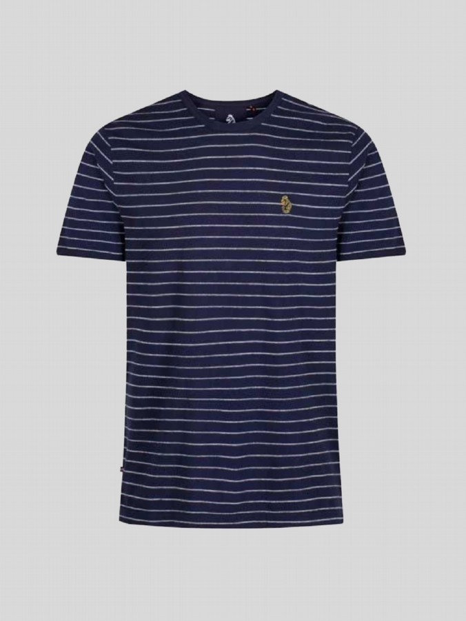 luke junior navy striped tshirt