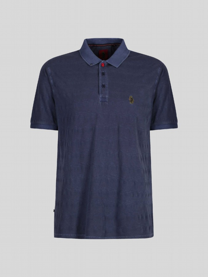 luke junior boys designer lux navy polo shirt