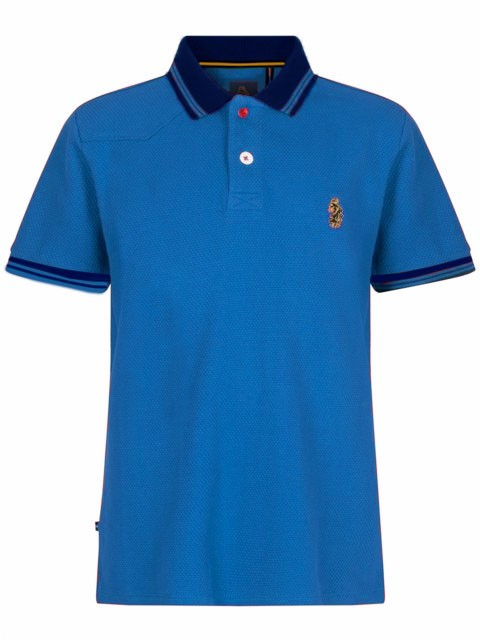 luke junior boys designer clothing sky blue navy polo shirt