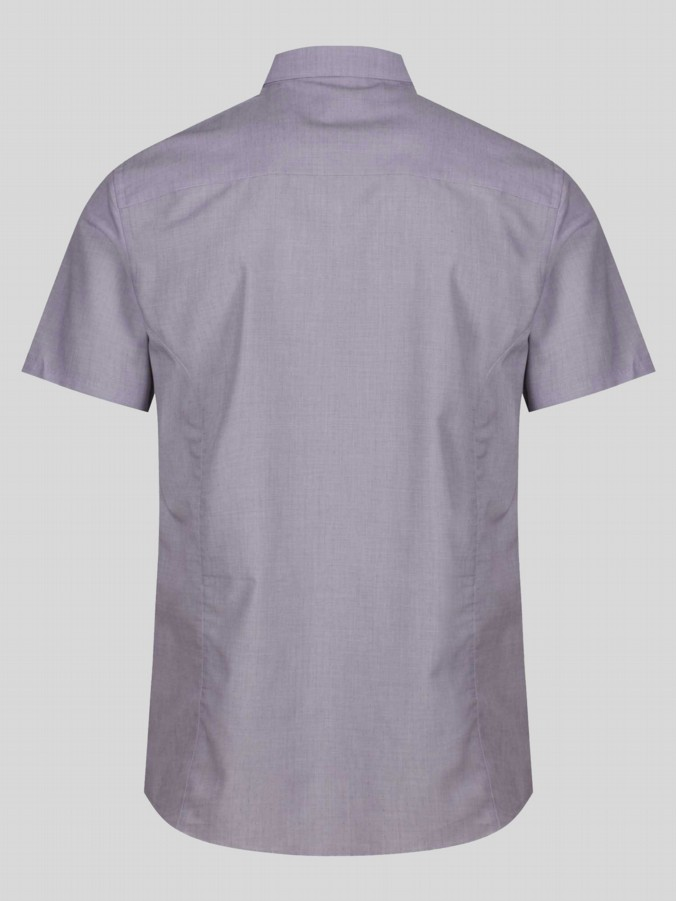 luke 1977 mens designer tampered nickle faded purple short sleeve shirt