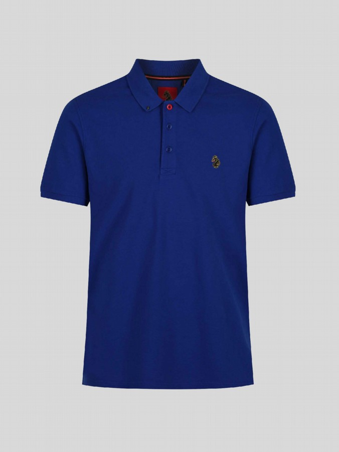 junior luke boys designer blue polo shirt