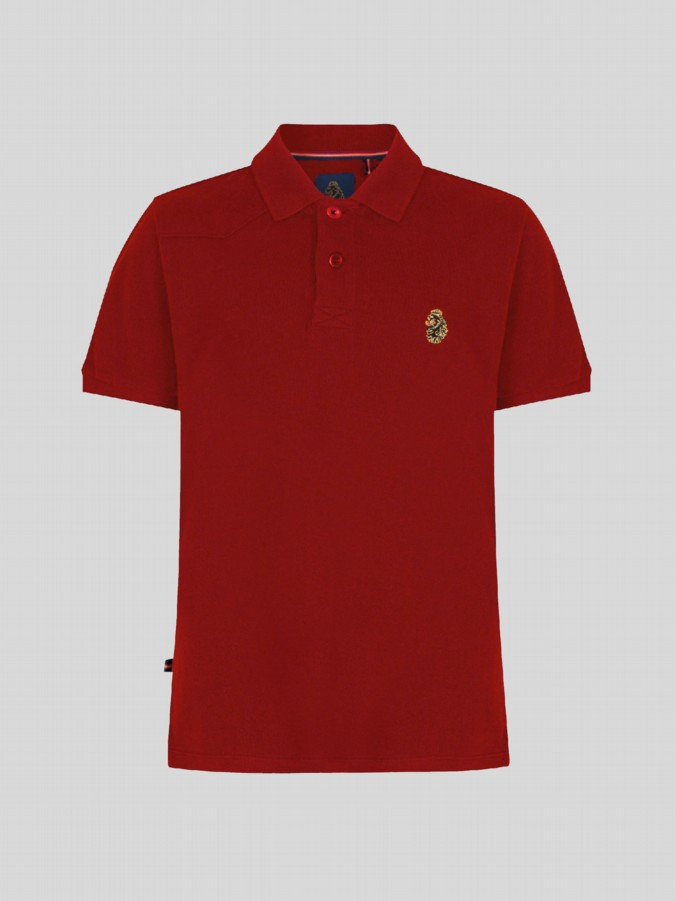 little luke kids designer clothing marina red polo shirt