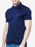 luke 1977 mens designer lux navy polo shirt