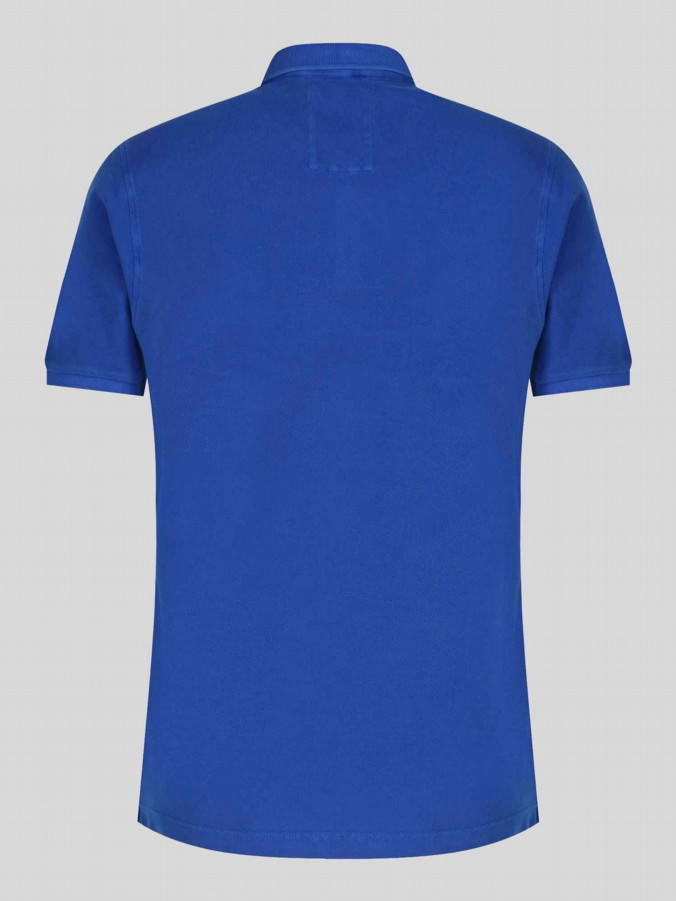luke 1977 mens designer bright royal blue polo shirt