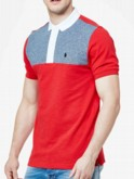 luke 1977 mens designer marina red short sleeve polo shirt