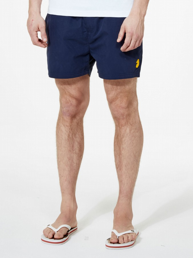 luke 1977 mens designer high cagy marina navy swimming shorts