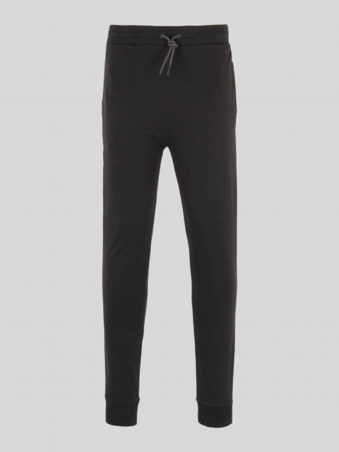 luke 1977 mens designer black jogging bottoms