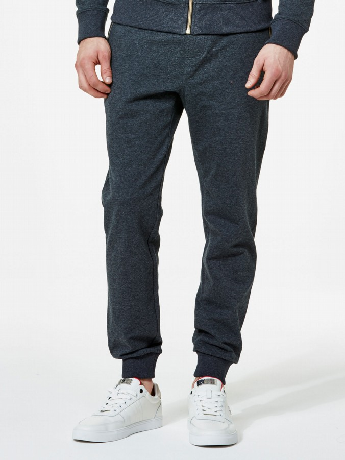 luke 1977 mens designer charcoal grey jogging bottosm tracksuit