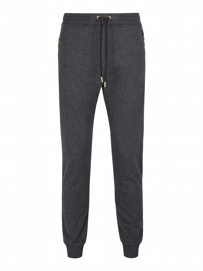 luke 1977 mens designer charcoal grey jogging bottoms tracksuit