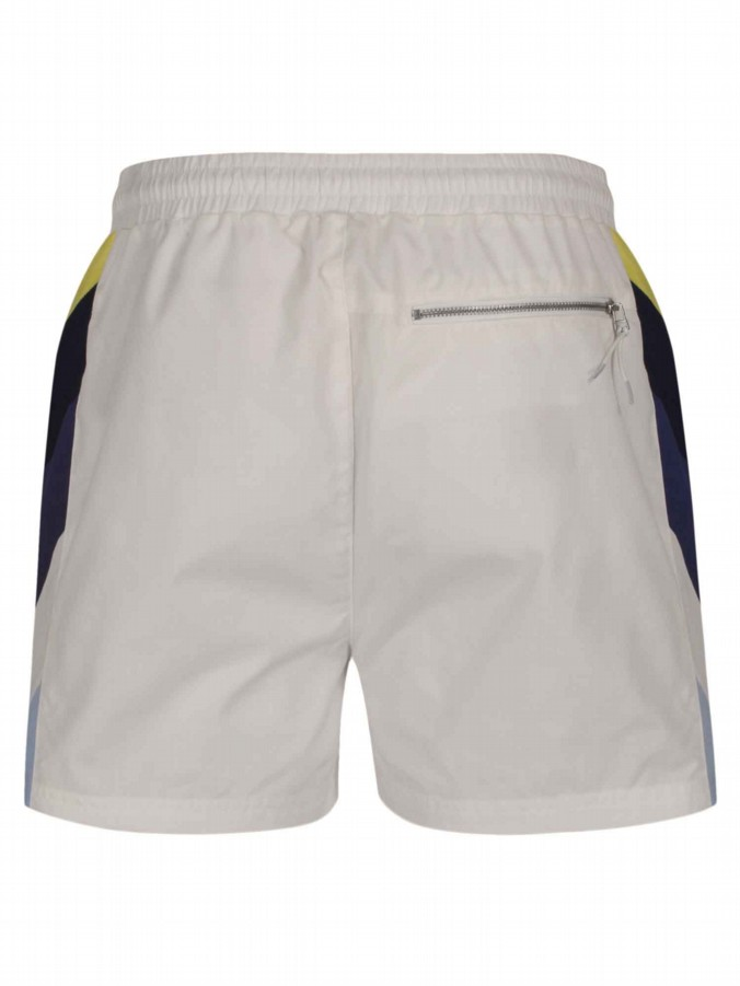 luke 1977 mens designer white swimming shorts