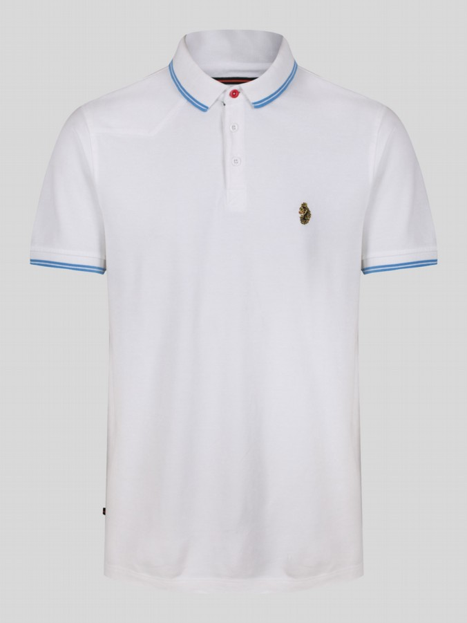 luke 1977 sport  mens designer white polo shirt