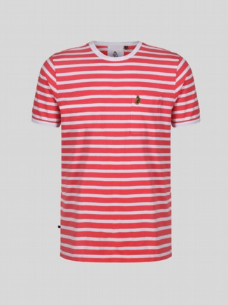 TROUS STRIPE KIDS CORAL