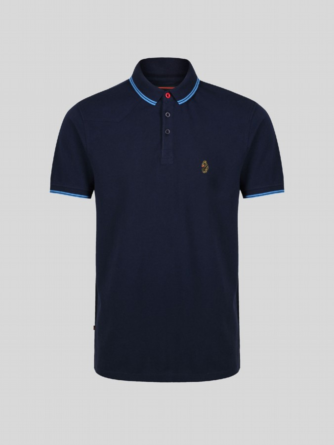 little luke kids designer navy polo shirt