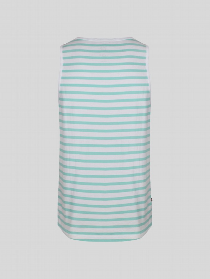luke junior boys stripe aqua blue vest