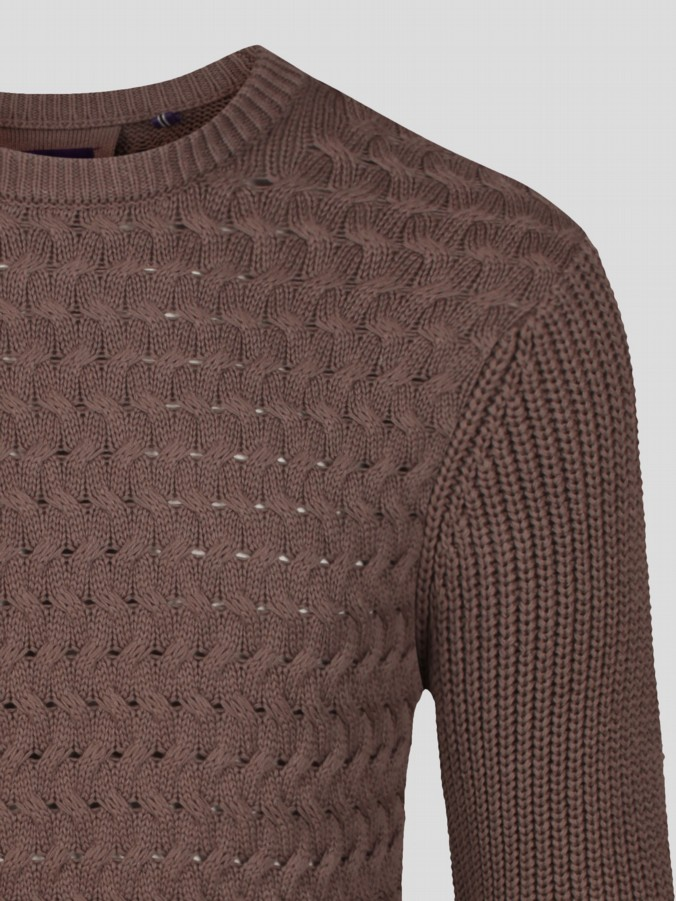 luke 1977 mens designer black woven computer knit jumper