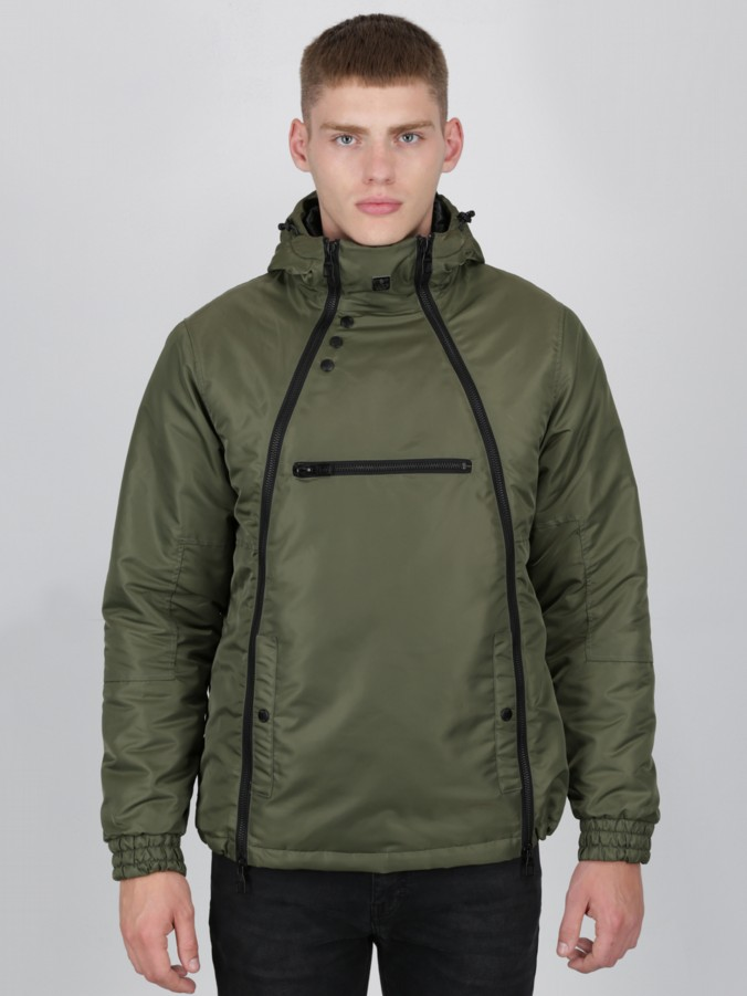 luke 1977 mens designer smoky camo double zip rain jacket