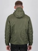 luke 1977 mens designer Khaki double zip rain jacket