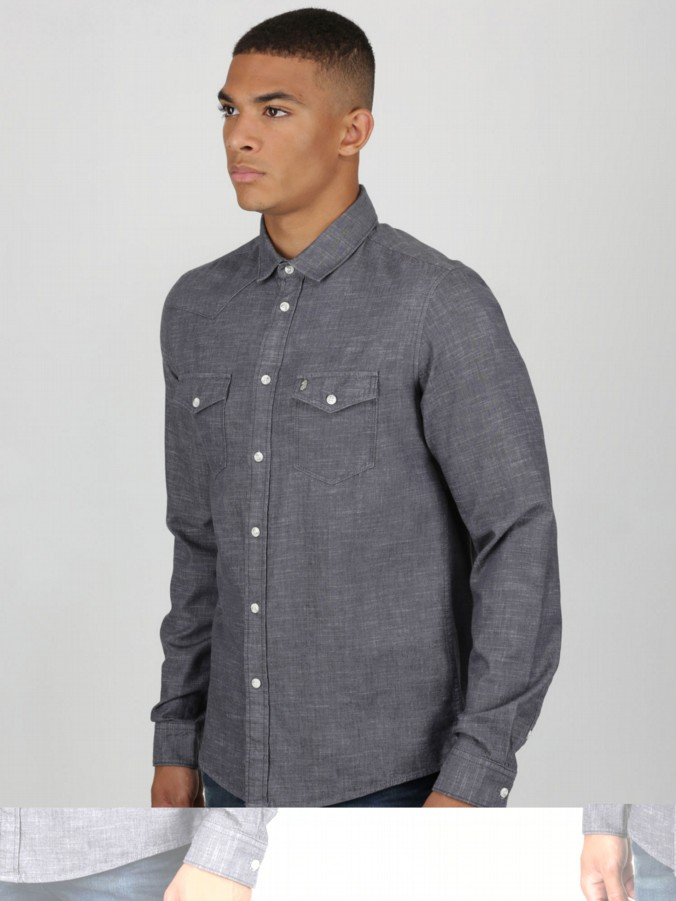 luke 1977 menswear designer mens long sleeve button down shirt