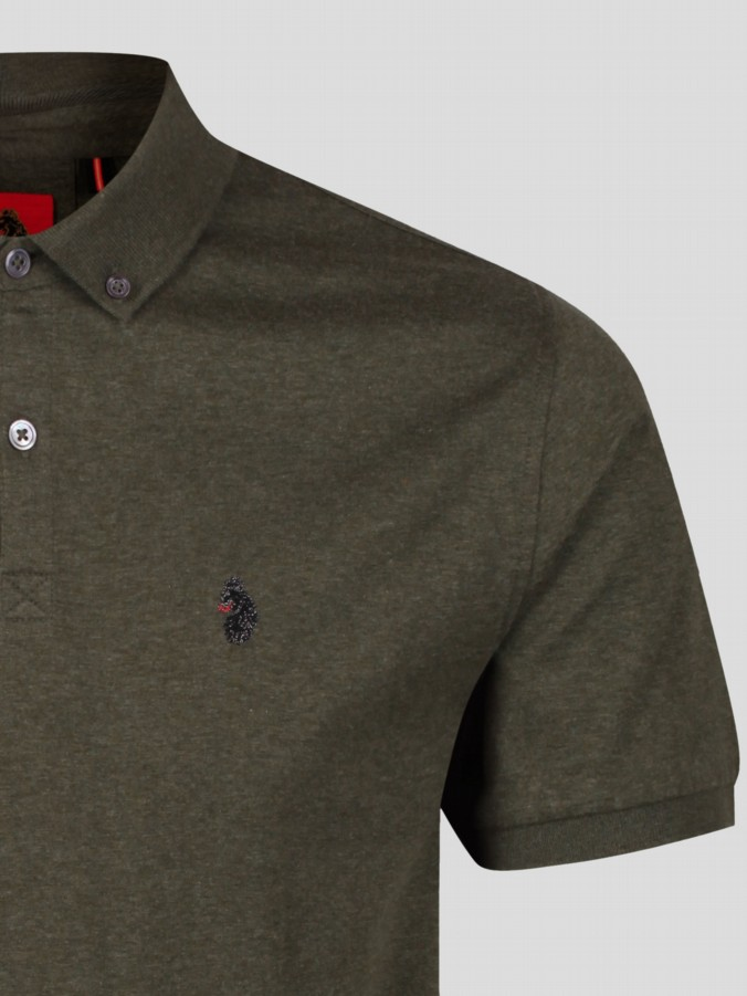 luke 1977 menswear designer short sleeve polo shirt